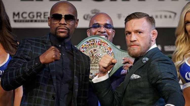 Mayweather y McGregor se verán las caras el sábado sobre el ring (AP)