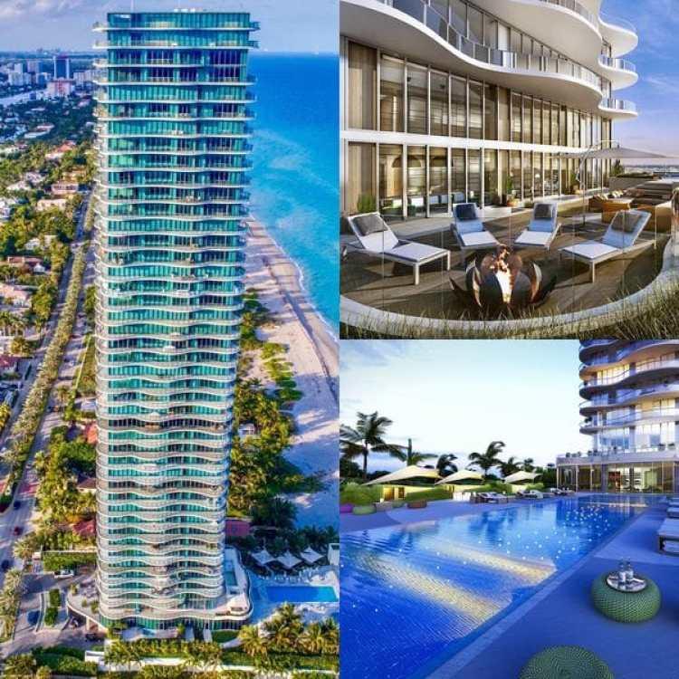 La torre Regalia de Sunny Isles, al norte de Miami Beach, se distingue por su diseño firmado por Charles Allem