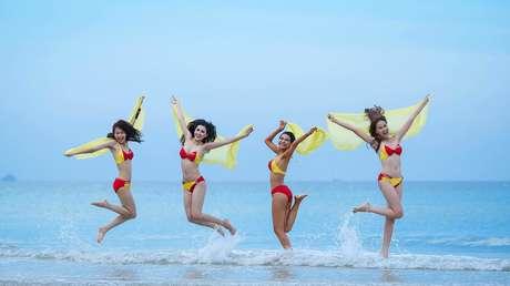Azafatas de VietJet Air en una foto promocional