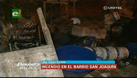 Se incendió el dormitorio de una vivienda por la avenida 2 de Agosto