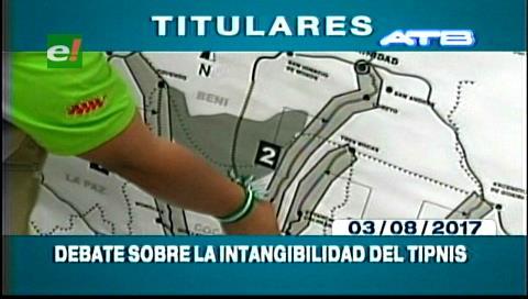 Video titulares de noticias de TV – Bolivia, mediodía del jueves 3 de agosto de 2017
