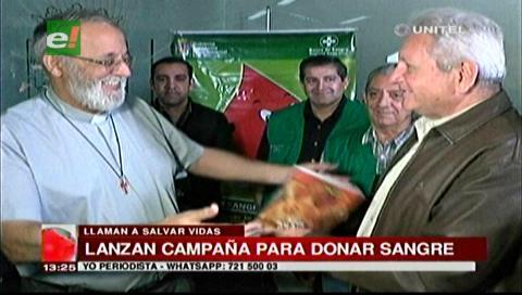 Gobernador Costas y el Padre Mateo promocionan campaña de donación de Sangre