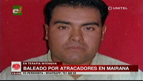 Mairana: Atracadores balean y roban el vehículo a un taxista