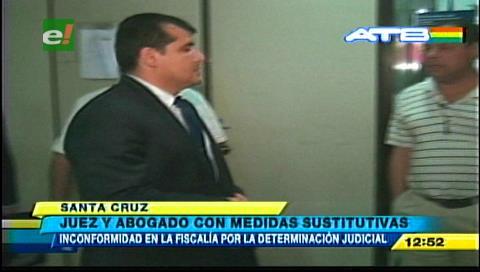 Dan medidas sustitutivas a juez Caicedo y al abogado Brito