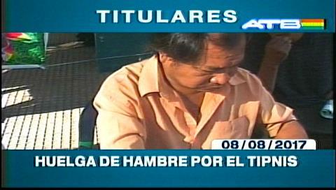 Video titulares de noticias de TV – Bolivia, mediodía del martes 8 de agosto de 2017