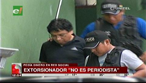 Representantes de la prensa aclaran que extorsionador no es periodista