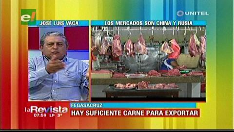 Fegasacruz espera que se apruebe la exportación de carne por el excedente