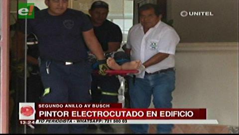 Trabajador sufre descarga eléctrica en una construcción de la avenida Busch