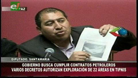 Diputado Santamaría: Gobierno levanta la intangibilidad del TIPNIS para explorar hidrocarburos