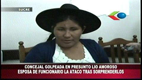Concejala de Sucre se recupera de una agresión