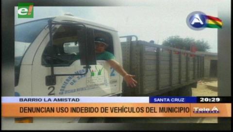 Denuncian el uso indebido de un camión del Municipio cruceño