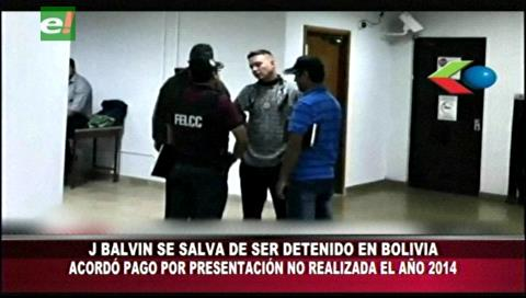 Casi detienen a J Balvin en Bolivia