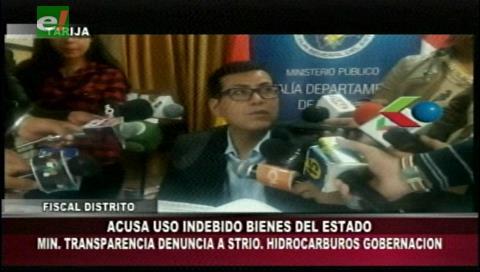 Tarija: Presentan denuncia penal contra secretario de Hidrocarburos