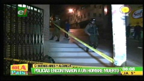 La Paz: Policía encuentra muerto a un sujeto en la acera de la calle Buenos Aires