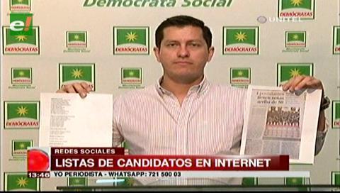 Elecciones judiciales: Denuncian listas de candidatos en las redes sociales