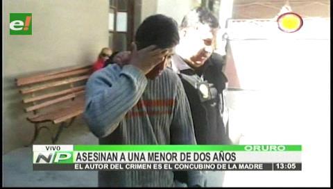 Huanuni: Padrastro asesinó a una menor de dos años
