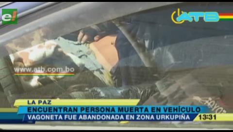 Persona hallada muerta en su vehículo