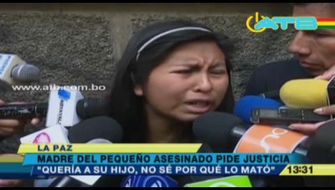 Madre de niño ahorcado pide 30 años de cárcel para el asesino