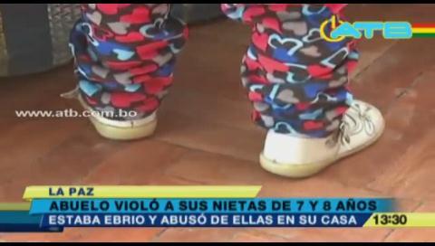 Abuelo violó a sus nietas de 7 y 8 años en El Alto