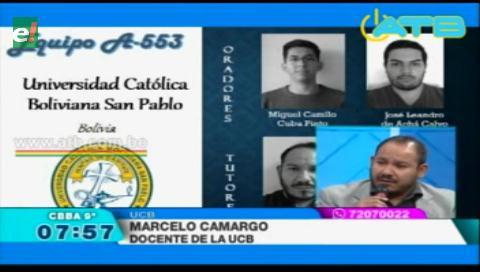 UCB Cochabamba es semifinalista en competencia de litigación internacional