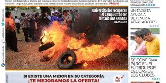 Portadas de periódicos de Bolivia del miércoles 16 de agosto de 2017