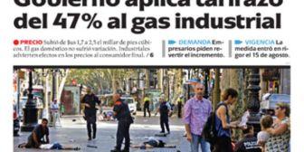 Portadas de periódicos de Bolivia del viernes 18 de agosto de 2017