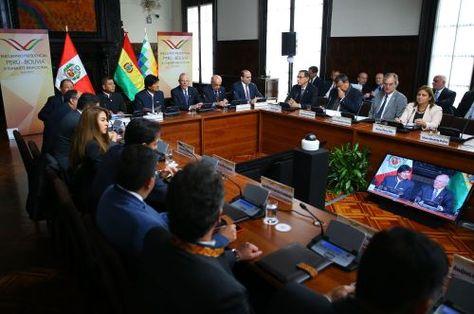 El encuentro Presidencial y III Gabinete Binacional Perú - Bolivia que se desarrolló este viernes. Fue en Lima.
