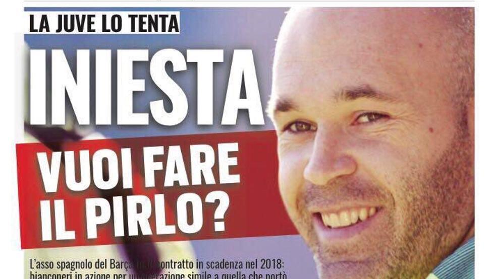 La portada de Tuttosport de hoy, 4 de septiembre.