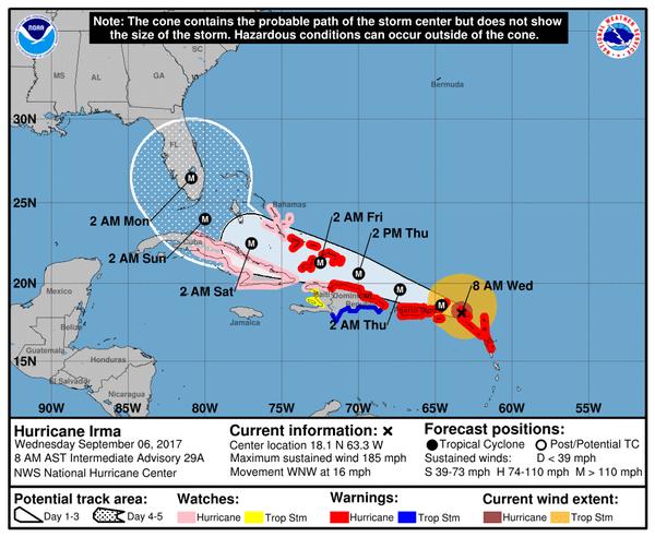 Cierran el aeropuerto de Cabo Haitiano ante la llegada de huracán Irma