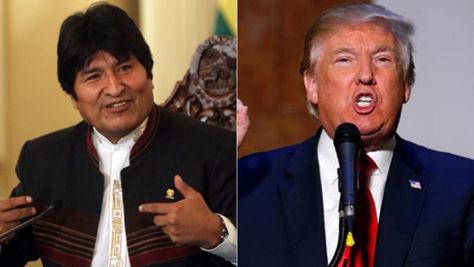 Evo Morales y Donald Trump