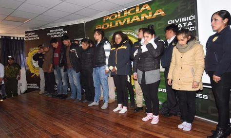 Los detenidos por el crímer del estudiante universitario Édgar Adrián Moya Méndez. Foto: APG