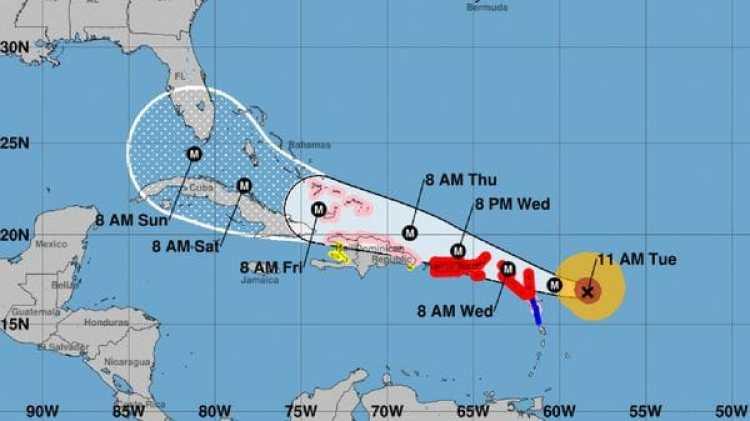 Pronóstico del Huracán Irma. Boletín de las 11 am – martes 5
