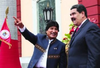 Evo viaja a respaldar a Maduro y le piden que vaya con sus recursos