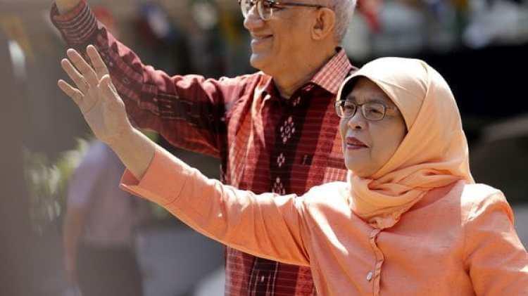 Halimah Yacob, nueva presidente de Singapur (AP Photo/Wong Maye-E)