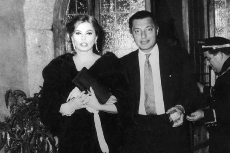 Gianni Agnelli con la actriz sueca Anita Ekberg