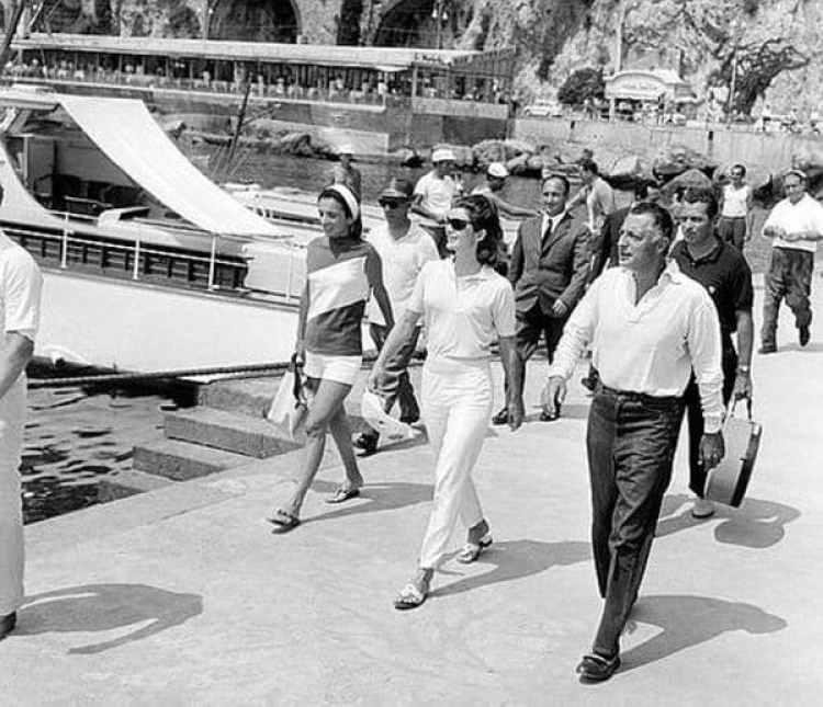 Agnelli y Jackie Kennedy en 1962 en Revello