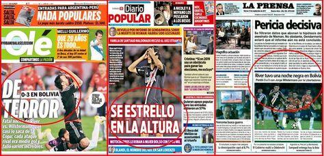 Portadas de medios argentinos reflejan la derrota