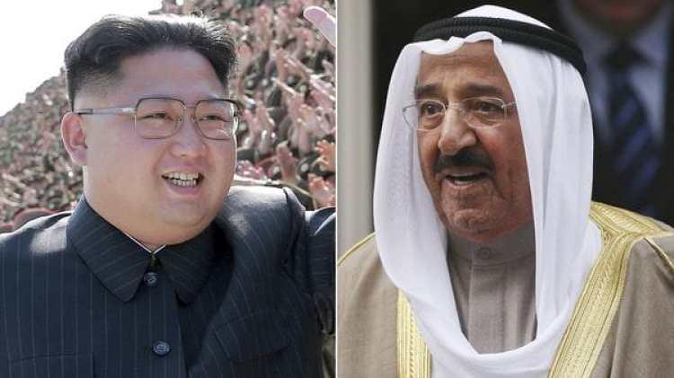 El líder de Corea del Norte, Kim Jong-un, y el emir de Kuwait, Sabah Al Ahmad Al Sabah