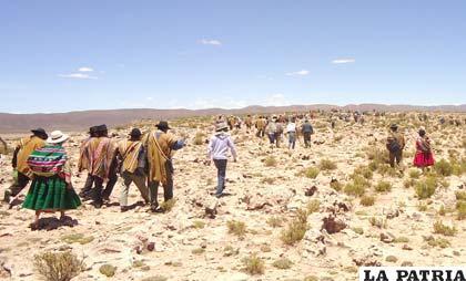 Resultado de imagen de conflicto de límites en zona limítrofe con Potosí