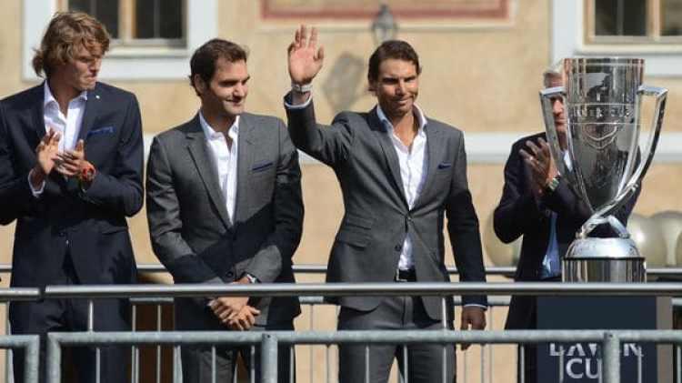 Rafael Nadal y Roger Federer integran el equipo europeo junto a Zverev, Cilic, Thiem y Berdych