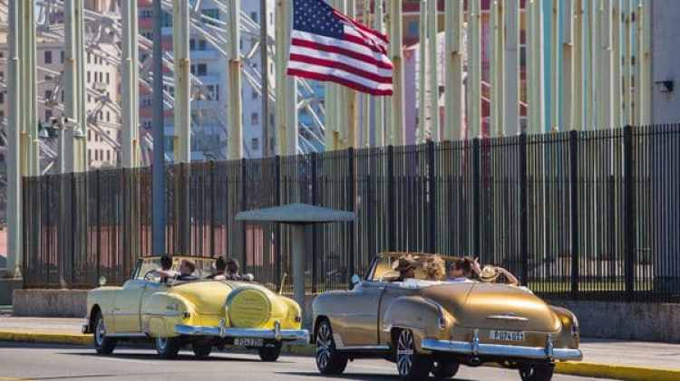 La embajada de EEUU en La Habana (AP)