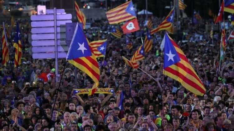 La manifestación de catalanes el viernes