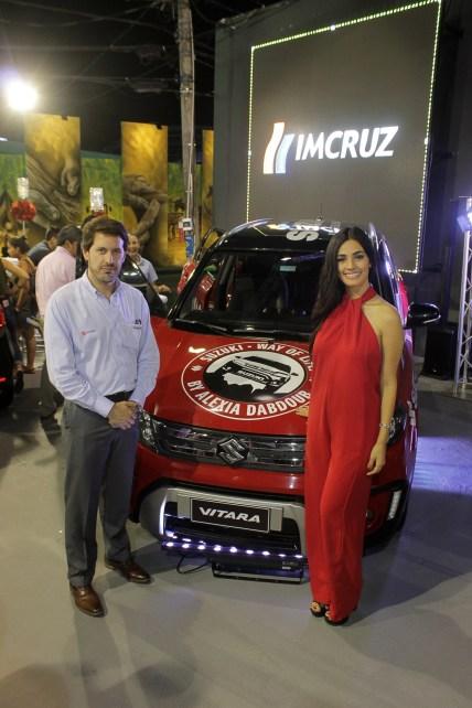 Christian Vrsalovic Coughlin, gerente marca Suzuki y Alexia Dabdoub