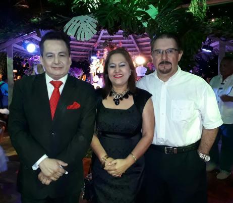 Marco Ayala, Sandra Kettels y Carlos Garcia Agreda