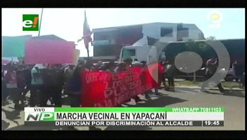 Comunarios marcharon contra el alcalde de Yapacaní