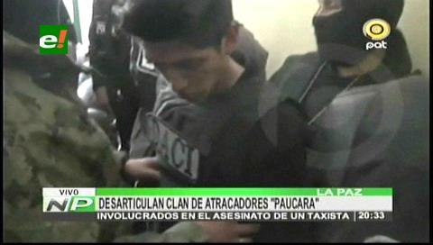 """La Paz: Detienen a delincuentes del """"Clan Paucara"""""""