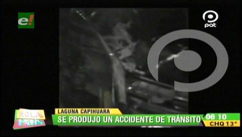 Accidente de tránsito con heridos en la laguna Capiguara