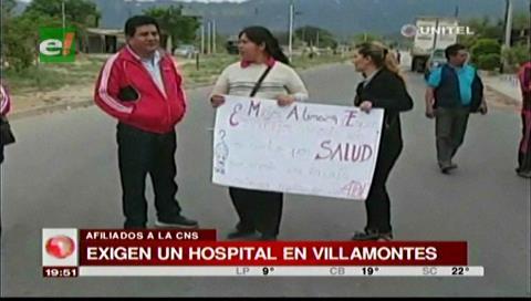 Afiliados a la CNS exigen la construcción de un hospital en Villamontes