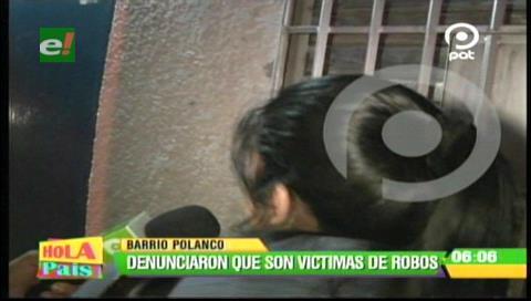 Santa Cruz: Denuncian el incremento de atracos en el barrio Polanco