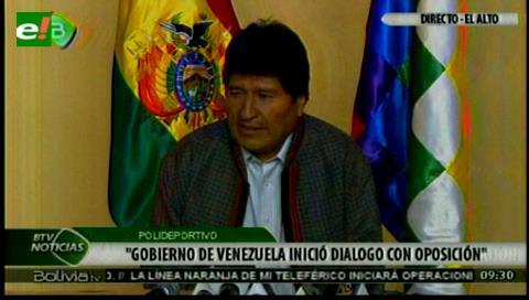 Evo: Bolivia acompañará diálogo entre el gobierno de Maduro y la oposición venezolana